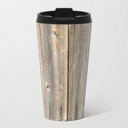 Old Rustic Wood Texture Travel Mug