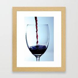 Quaffing Wine Framed Art Print