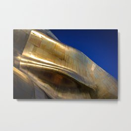 Waves of Gold Metal Print