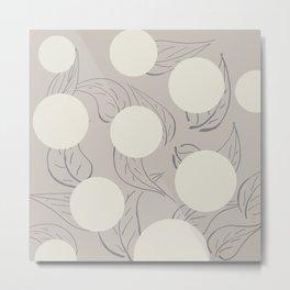 Polka dot flower Metal Print