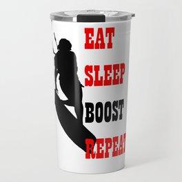 Eat Sleep Boost Repeat Kitebeach Travel Mug