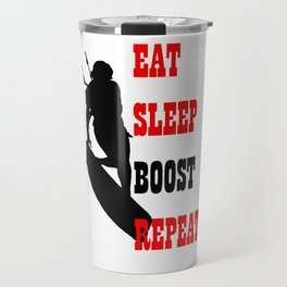 Eat Sleep Boost Repeat Kitebeach Travel Mug