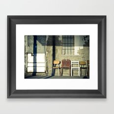 Lonely Chairs #1 Framed Art Print