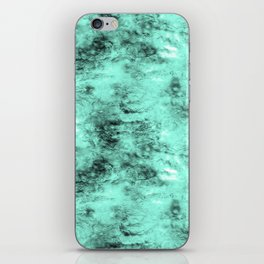 Patched Teal Waters iPhone Skin