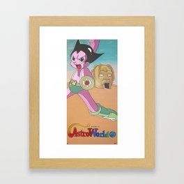 AstroBoy in AstroWorld Framed Art Print
