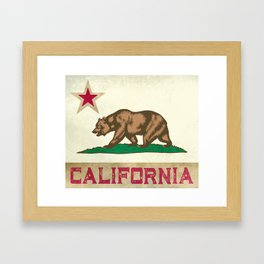 Vintage California Flag Framed Art Print