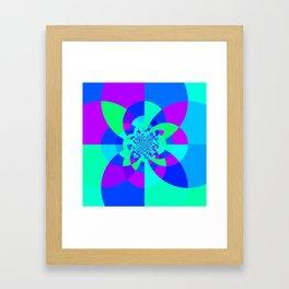 Orchid Aqua Turquoise Kaleidoscope Framed Art Print