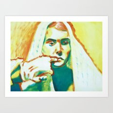 The Franciscan Padre as Painted-Up Mary Art Print