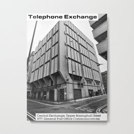 Concrete Leeds - Central Telephone Exchange Metal Print