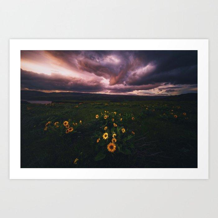 Storms Overhead Art Print