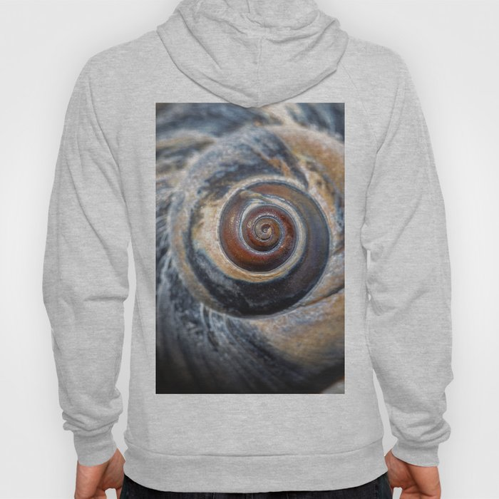 Blue and Gold spiral seashell Hoody