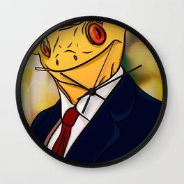 Salaryman Gecko Wall Clock