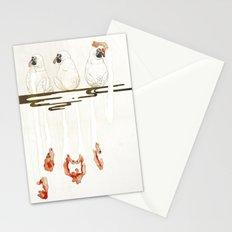 3 proboscis monkeys | Senjiro Nakata Stationery Cards