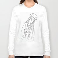 jelly fish Long Sleeve T-shirts featuring Jelly by Little Mama
