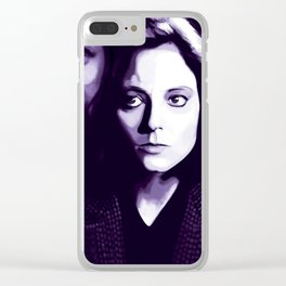 Jodie Foster Silence of the lambs Clear iPhone Case