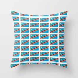 Flag of drc-rdc,congo,congolese,congolais,congolaise,kinshasa Throw Pillow