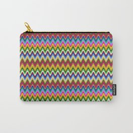 Rainbow, multicolored waves in ethnic style Carry-All Pouch