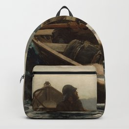 The Fog Warning / Halibut Fishing by Winslow Homer Backpack
