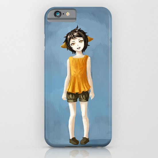 Girl in shorts iPhone & iPod Case