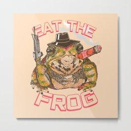 Eat The Frog Metal Print