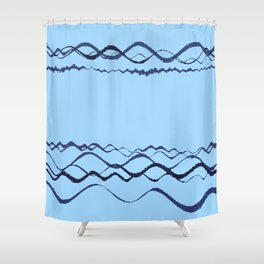 1380249359 in blue Shower Curtain