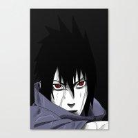 sasuke Canvas Prints featuring Sasuke Uchiha  by Iotara