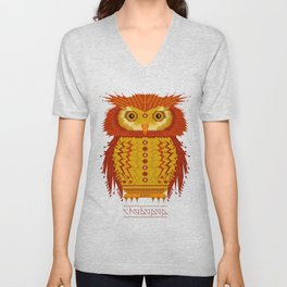 Geometric Owl Unisex V-Neck