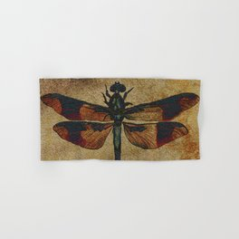 Dragonfly Mirrored on Leather Hand & Bath Towel