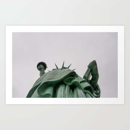A Lady in green - NYC Art Print