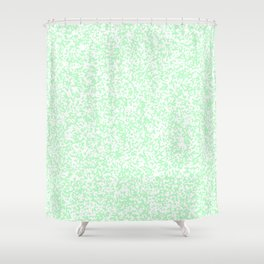 Tiny Spots - White and Mint Green Shower Curtain