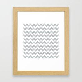 Light Grey Chevron Pattern Framed Art Print