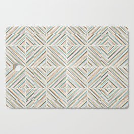Herringbone Diamonds - Peach Cutting Board