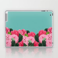 Floral & Turquoise Laptop & iPad Skin
