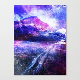 Abstract Mountain Landscape Canvas Print