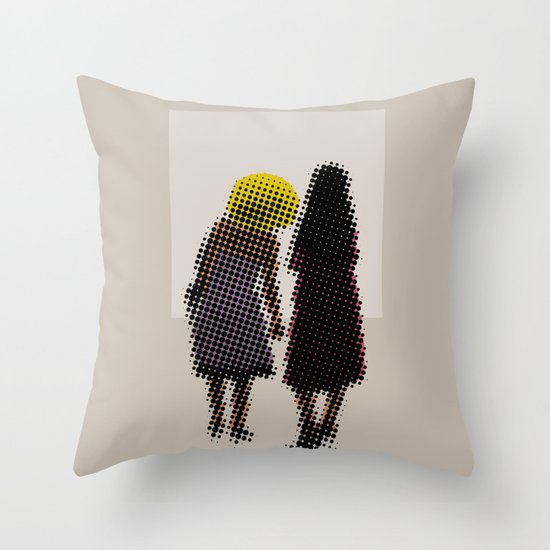 She tried, but all she could see was the missing picture Throw Pillow