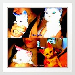Punk Kitty/Blue Kitty Art Print