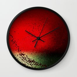 Black Flicks of Paint Wall Clock