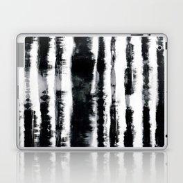 Tie-Dye Shibori Stripe BW Laptop & iPad Skin