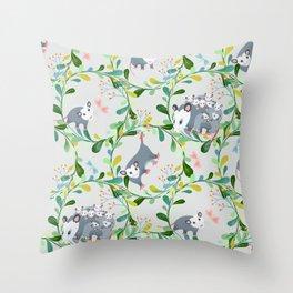 Possum Circles Throw Pillow