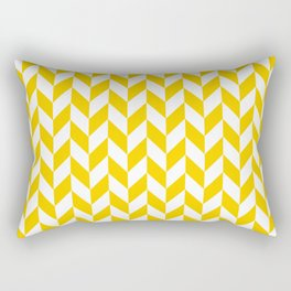 Yellow Herringbone Pattern Rectangular Pillow