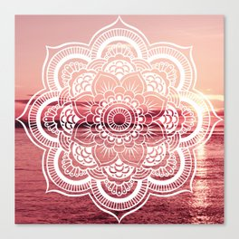 Mandala Water : Rose Pink Canvas Print
