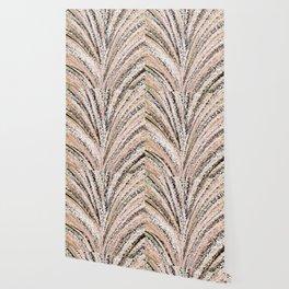 Rose Gold and Glitter Brushstroke Bursts Wallpaper