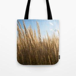 Golden Wild Grass Tote Bag