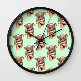kawaii koala pattern Wall Clock
