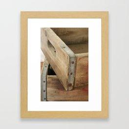 Just Crates Framed Art Print