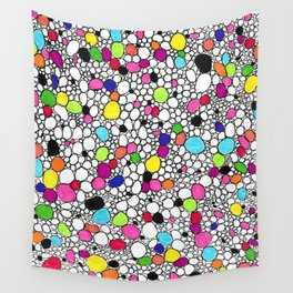 Circles and Other Shapes and colors Wall Tapestry