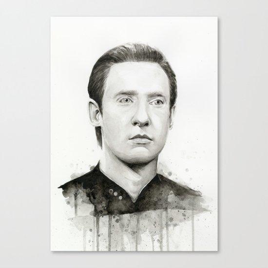 Data TNG Portrait Canvas Print