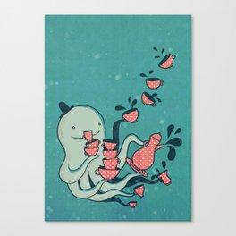 Tea & Tentacles Canvas Print