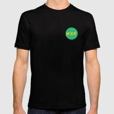 year3000 - Yellow/Green Logo Mens Fitted Tee Black MEDIUM