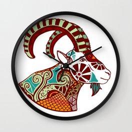Capricorn Zodiac - Ibex Wall Clock